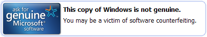 This copy of Windows is not genuine.